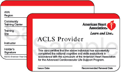 San Francisco ACLS card