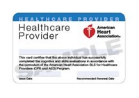 American Heart Association BLS Card