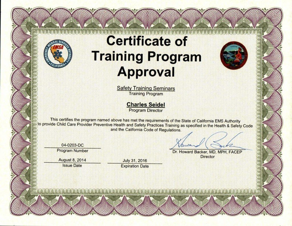 San Jose Emsa Childcare Certification Training Classes
