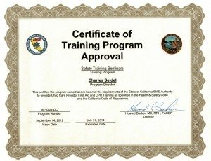 EMSA Certified Courses in Santa Clara County