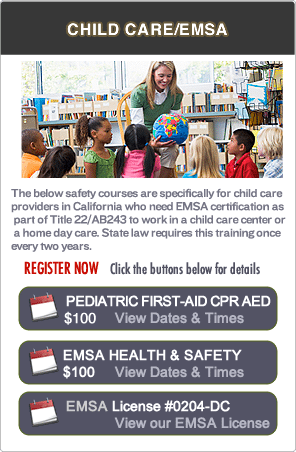 San Jose EMSA Pediatric First-aid Classes
