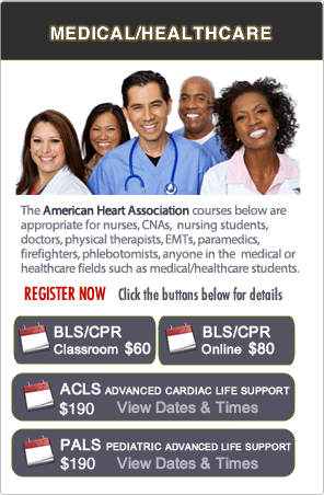 San Jose BLS, ACLS, PALS Classes